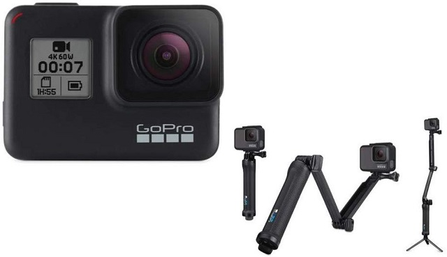 1. GoPro 3-Way Best GoPro Hero 8 Black Accessories