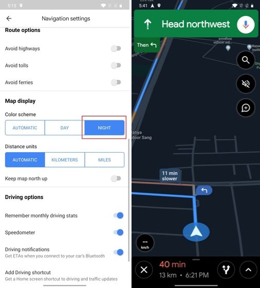 12. Dark Mode While Navigation