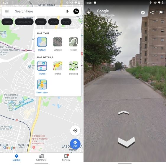 15. Street View Layer in Google Maps hidden android features