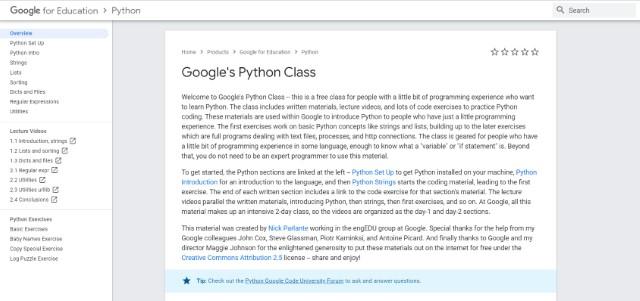 7. Google's Python Class