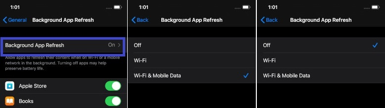 Disable Background app refresh on iOS 13 and iPadOS 13
