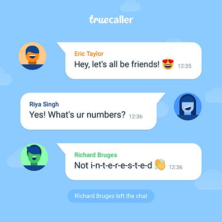 Truecaller group chat