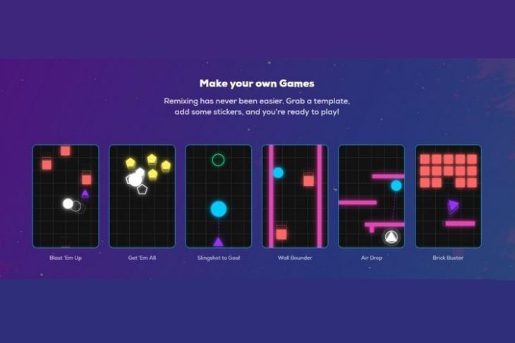 Giphy Arcade website