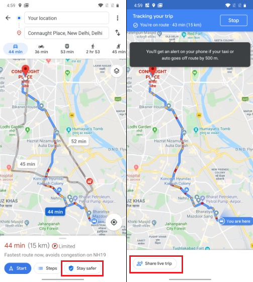 Google Maps Safety
