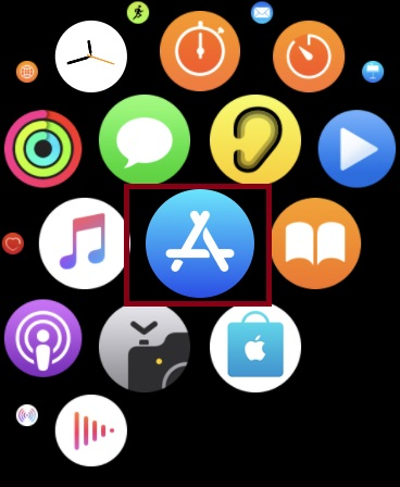 Launch App Store on your Apple Watch