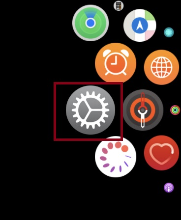 Launch Settings app on your Apple Watch