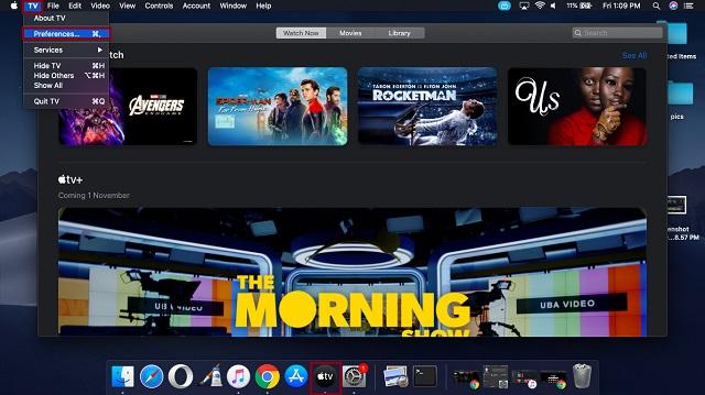 Open Apple TV app