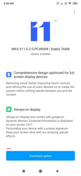 Redmi K20 - MIUI 11 update