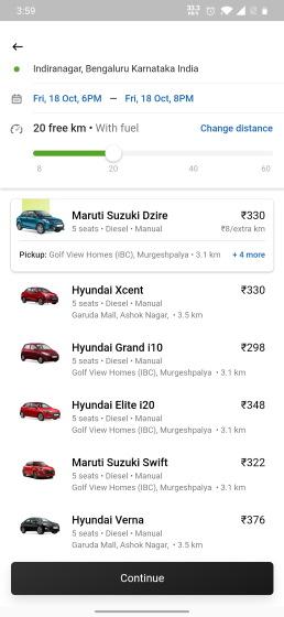 ola self-driving car rentals