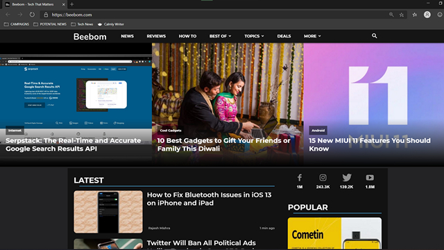 How to Force Dark Mode on Web Pages in Microsoft Edge
