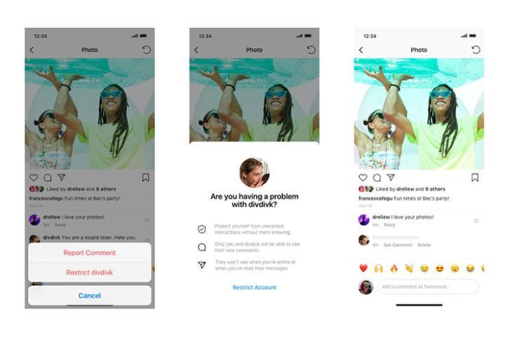 instagram restrict feature