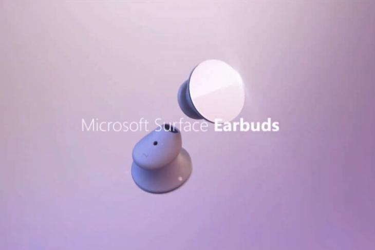 microsoft surface earbuds announced
