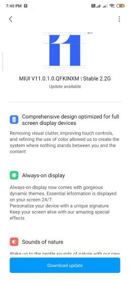 redmi k20 pro miui 11 update rollout