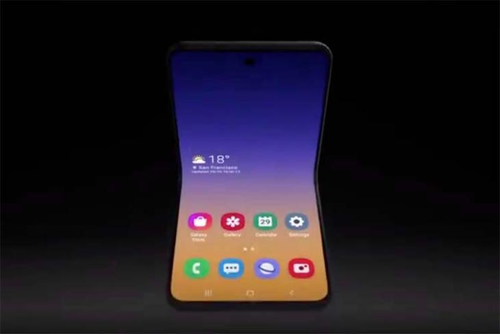 samsung flip foldable phone concept image