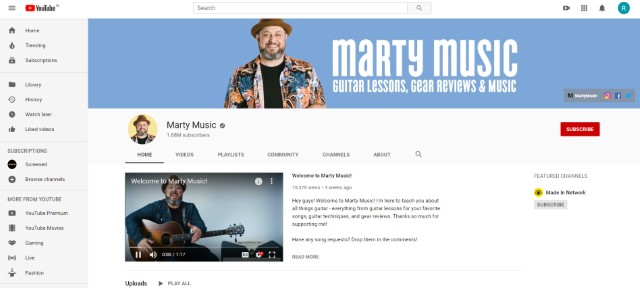 10. Learn Guitar from YouTUbe