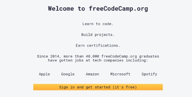 10. Learn Web Development on freecodecamp