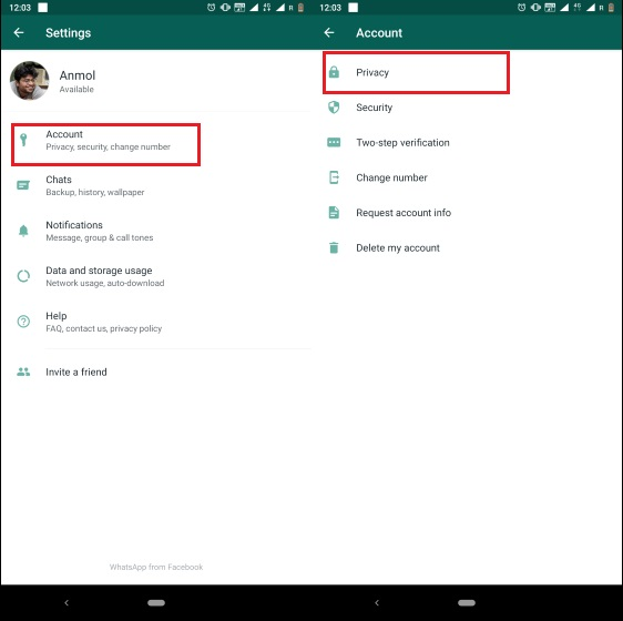 2. Enable Fingerprint Lock on WhatsApp