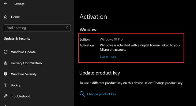 2. Transfer a Windows 10 License with Microsoft Account 2