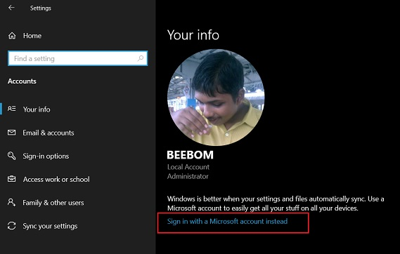 2. Microsoft Account