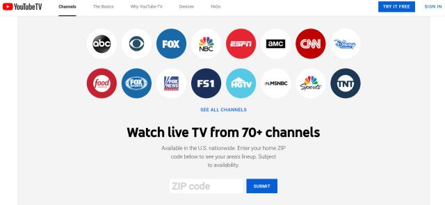 3. YouTube TV Best Cable Alternatives