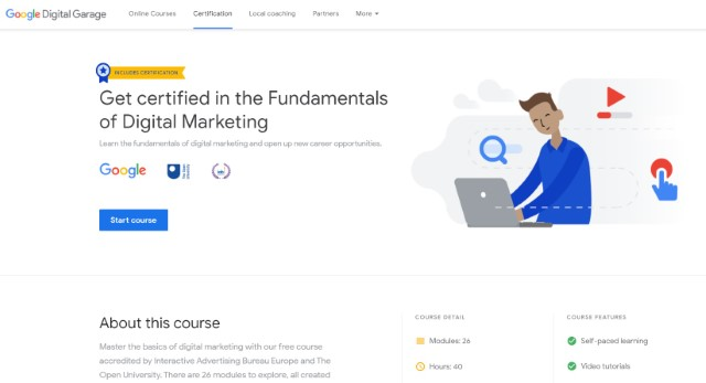 5. Fundamentals of Digital Marketing by Google