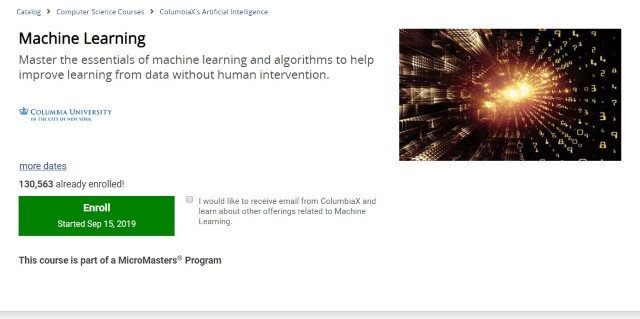 5. Machine Learning by Columbia University