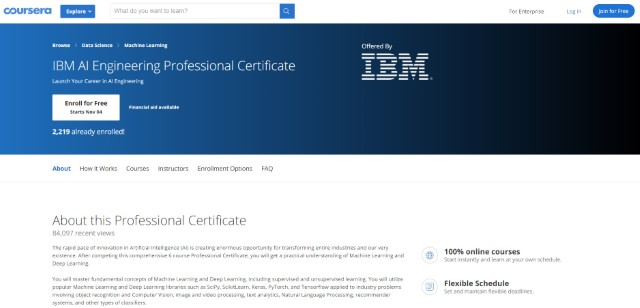 6. IBM AI Engineering Professional Certificate