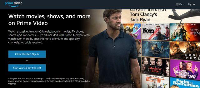 7. Amazon Prime Video