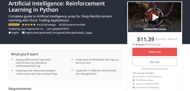 9. Artificial Intelligence - Reinforcement Learning in Python