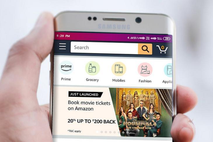 Amazon India movie tickets website
