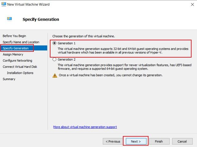 Create a Virtual Machine on Windows 10