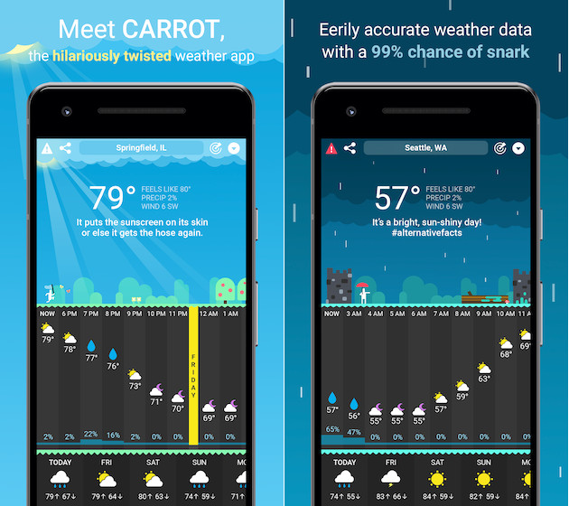 Carrot weather for Android