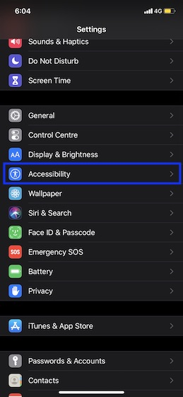 Choose Accessibility