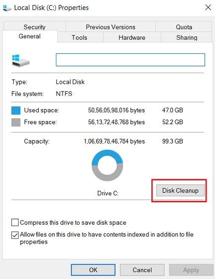 Delete Update Files from WinSxS Folder Using Disk Cleanup
