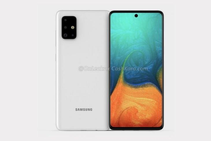 Galaxy A71 with punch-hole display, quad camera surfaces online
