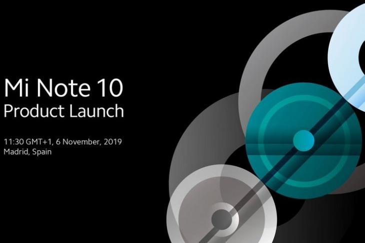 Mi Note 10 launch announcement website