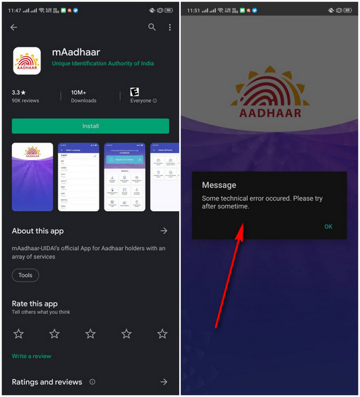 New mAadhaar App Released on Android, iOS, But it Just Doesn't Work