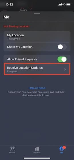 Receive location updates