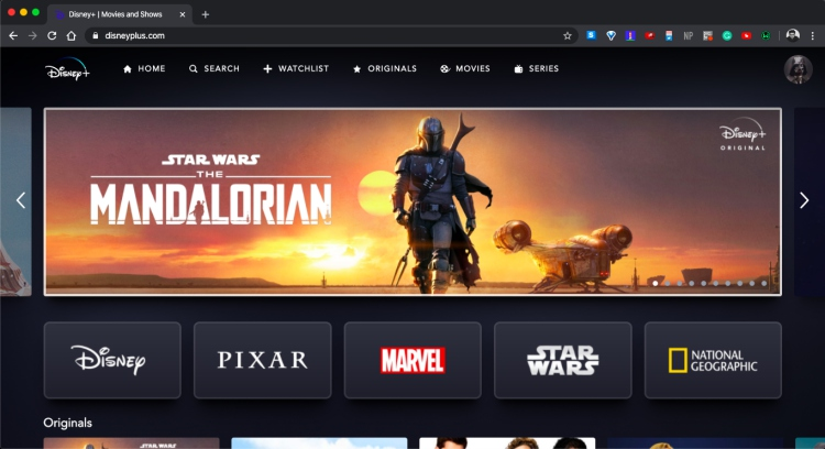 disney+ works on desktop in india
