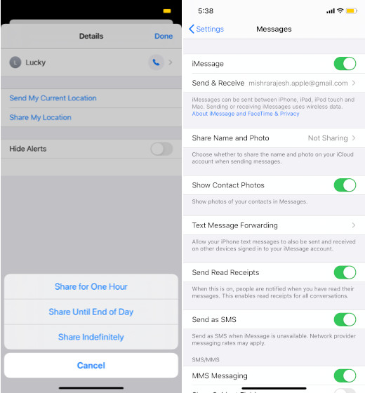 iMessage Settings