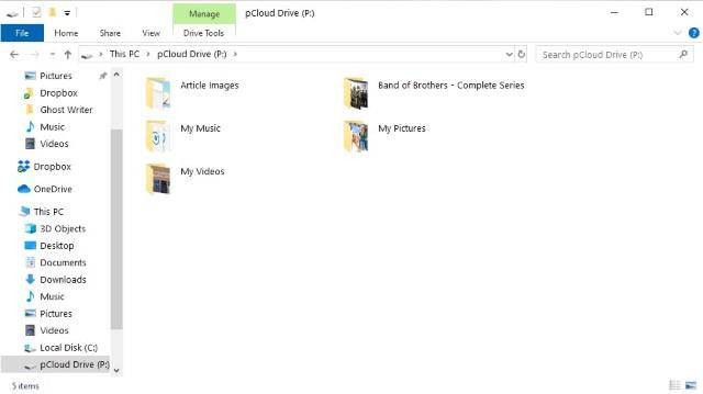 pCLoud drive App