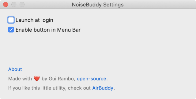 setting noisebuddy