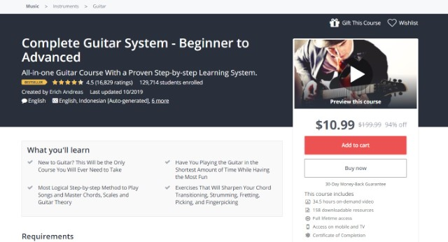 1 Best Guitar Courses Online on Udemy