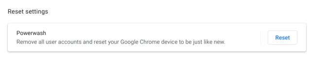 15. Reset Your Chromebook