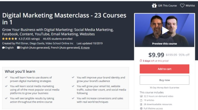 3. Digital Marketing Masterclass - 23 Courses in 1