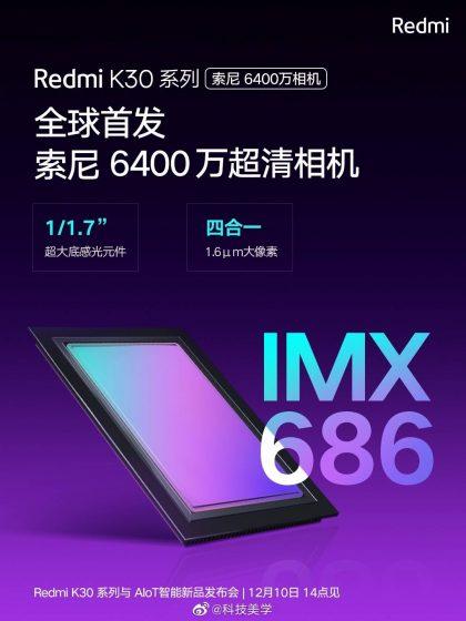 Redmi K30 - Sony IMX686 sensor