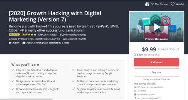 4. Growth Hacking with Digital Marketing (2020 Edition)