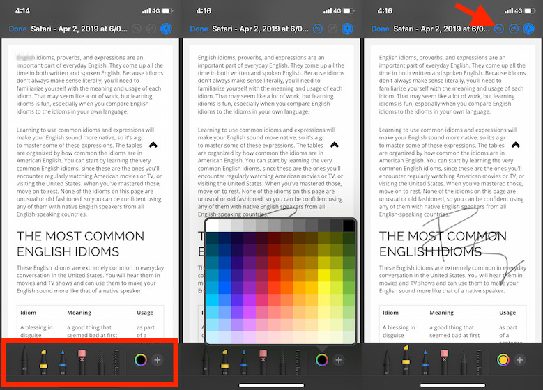 Annotate PDF files on iPhone and iPad