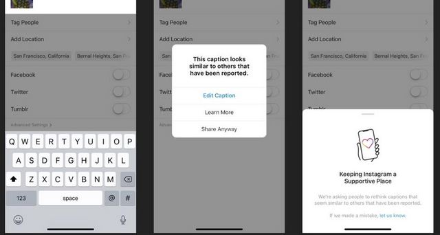 Instagram Rolling Out 'Caption Warning' Feature to Prevent Bullying, Hate Speech