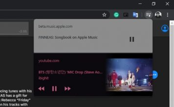 Chrome 79 gets media playback controls